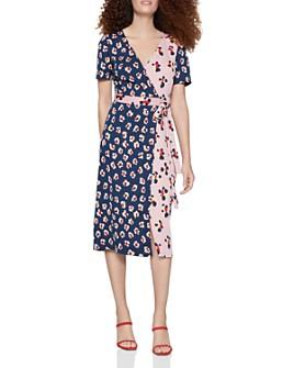 BCBGENERATION - Mixed Floral Wrap Dress