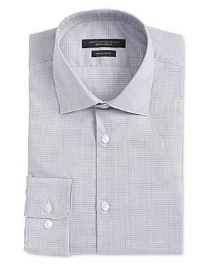 John Varvatos Star Usa Wrinkle-Resistant Micro Check Regular Fit Dress Shirt