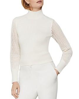 BCBGMAXAZRIA - Open-Knit-Sleeve Sweater
