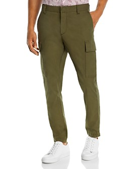 John Varvatos Star USA - Slim Fit Olive Cargo Pants