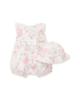 Little Me - Girls' Garden Print Romper & Hat Set - Baby