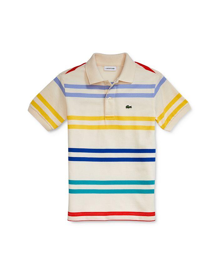 Lacoste - Boys' Striped Polo Shirt - Little Kid, Big Kid