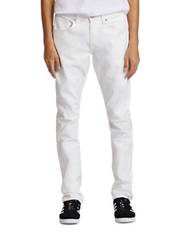 Hudson - Blake Slim Straight Fit Jeans in Ivory