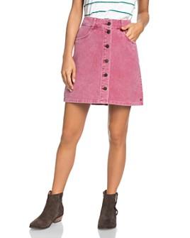 Roxy - Button-Front Corduroy Skirt