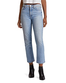 Hudson - Holly High-Rise Crop Flare Jeans in Colossal