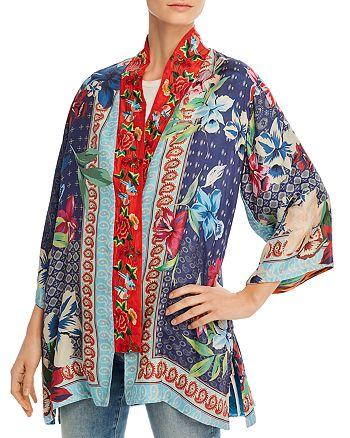 Johnny Was - Coastal Silk Printed Kimono Jacket