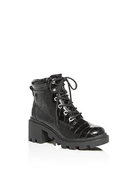 STEVE MADDEN - Girls' JDillan Croc-Embossed Combat Boots - Big Kid