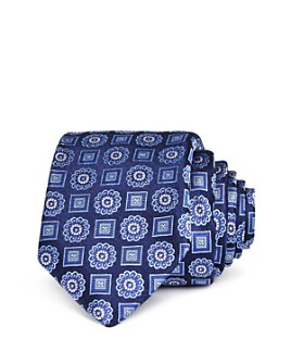 Ted Baker - Alternating Medallion Silk Skinny Tie