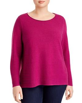 Eileen Fisher Plus - Organic Linen & Organic Cotton Ribbed Sweater