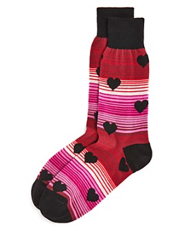 The Men's Store at Bloomingdale's - Stripe Hearts Socks - 100% Exclusive