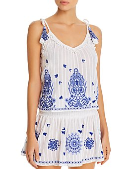 Ramy Brook - Marco Top Swim Cover-Up & Mini Skirt Swim Cover-Up
