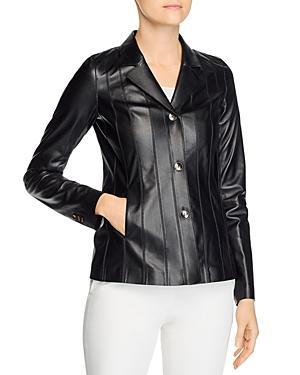 Lafayette 148 New York Warrick Leather Jacket-Women