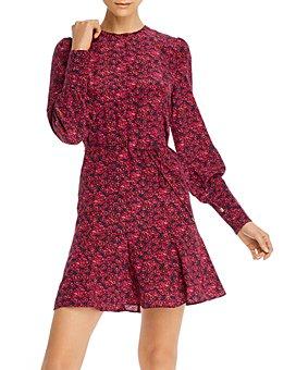 Rebecca Vallance - Floral-Print A-Line Silk Mini Dress