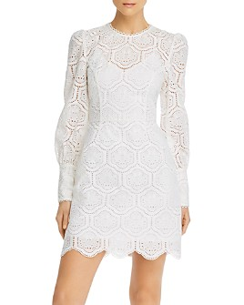 Rebecca Vallance - Lace Cotton Mini Dress