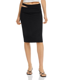 Helmut Lang - Cutout Midi Pencil Skirt