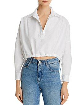 FRENCH CONNECTION - Zain Poplin Crop Top