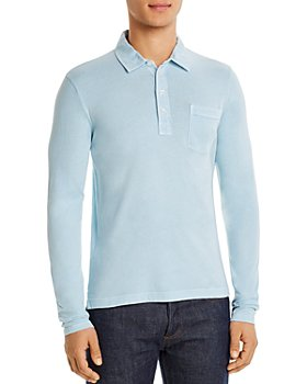 Billy Reid - Pensacola Cotton Long-Sleeve Polo Shirt
