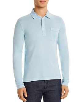 Billy Reid - Pensacola Cotton Long-Sleeve Polo Shirt