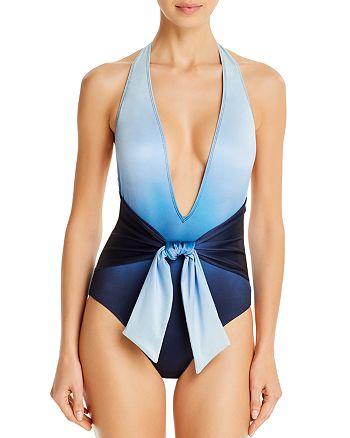 Jonathan Simkhai - Midnight Ombré One-Piece Swimsuit