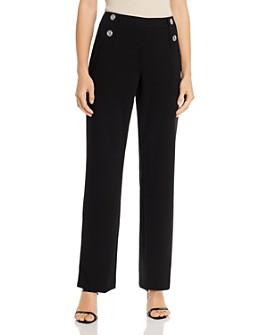 Calvin Klein - Wide-Leg Button-Front Pants