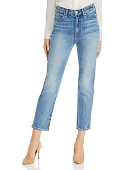 7 For All Mankind - High-Rise Straight Ankle Jeans in Ventura Blvd