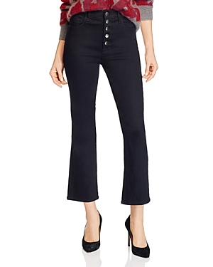 J Brand Lillie High-Rise Ankle Flared Jeans in Vesper Noir-Women