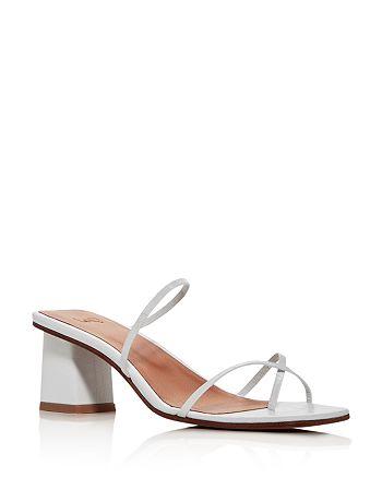 LoQ - Women's Manola Croc-Embossed Strappy Sandals