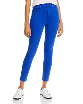 Alice and Olivia - Good High-Rise Ankle Skinny Jeans in Ultra Marine