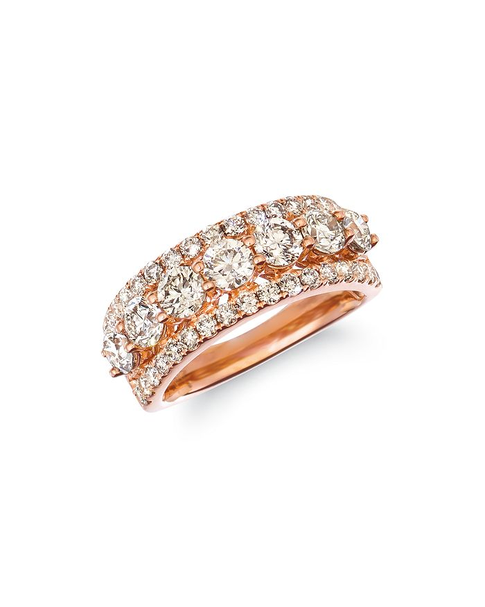 Bloomingdale's - Champage Diamond Classic Band in 14K Rose Gold, 2.32 ct. t.w. - 100% Exclusive
