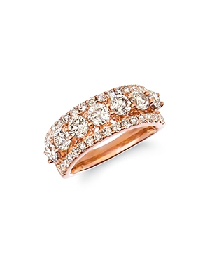 Bloomingdale's Champage Diamond Classic Band in 14K Rose Gold, 2.32 ct. t.w. - 100% Exclusive