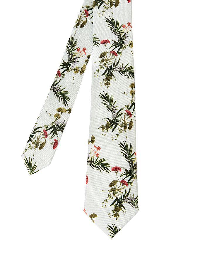 Ted Baker - Silk Floral Print Skinny Tie