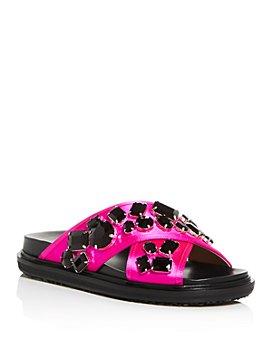 Marni - Women's Fussbett Crystal Crisscross Sandals