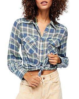 Free People - First Bloom Plaid Button-Front Shirt