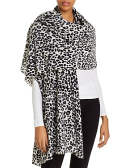 C by Bloomingdale's - Cashmere Leopard-Print Wrap - 100% Exclusive