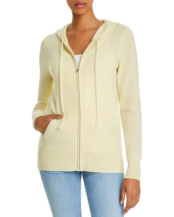 C by Bloomingdale's - Cashmere Zippered Hoodie - 100% Exclusive