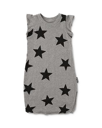 NUNUNU - Girls' Ruffle Star Cotton Dress - Little Kid