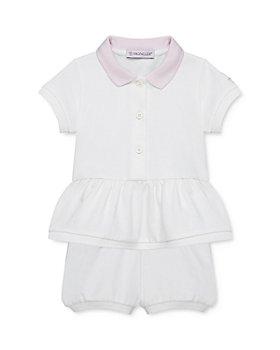 Moncler - Girls' Peplum Polo Dress & Bloomer Set - Baby, Little Kid