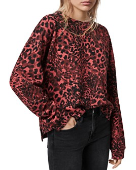 ALLSAINTS - Lo Redar Leopard Print Sweatshirt