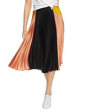 Image of 1.state Color-Block Pleated Skirt