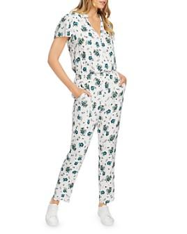1.STATE - Floral V-Neck Jumpsuit