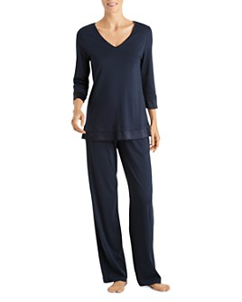 Hanro - Lamia Three-Quarter Sleeve Pajama Set