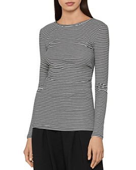 BCBGMAXAZRIA - Striped Jersey Top