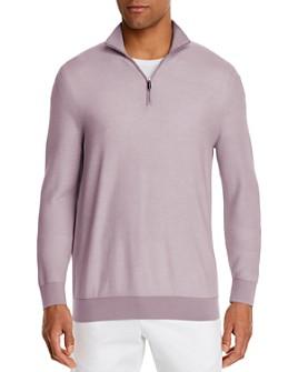 The Men's Store at Bloomingdale's - Cotton Textured Half-Zip Sweater - 100% Exclusive