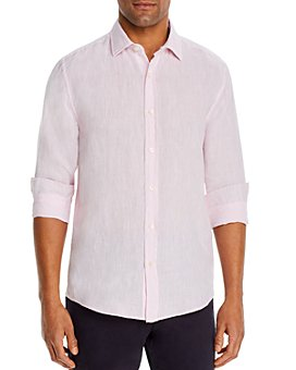 The Men's Store at Bloomingdale's - Linen Yarn-Dyed Solid Classic Fit Shirt - 100% Exclusive