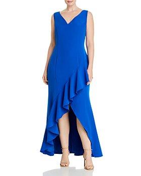 Adrianna Papell Plus - Asymmetrical Ruffled Dress