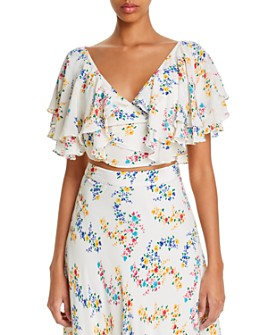 All Things Mochi - Bea Floral-Print Cropped Top