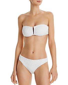 Red Carter - V-Wire Bandeau Bikini Top & Hipster Bikini Bottom