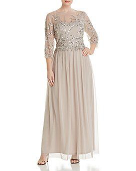 Adrianna Papell Plus - Beaded-Bodice Dress
