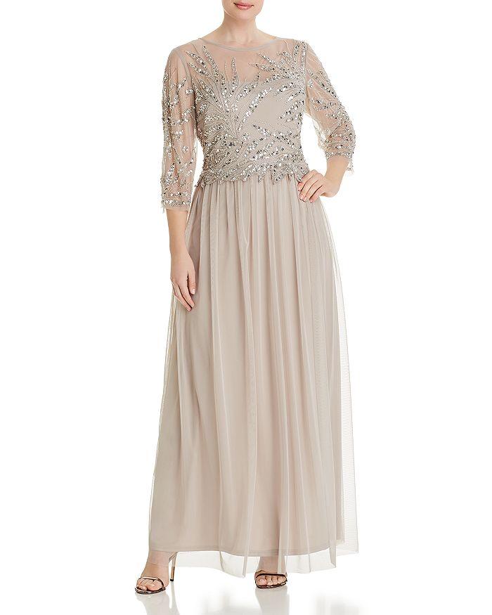 Adrianna Papell Plus - Beaded-Bodice Dress