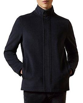 Ted Baker - Wool-Blend Funnel-Neck Jacket